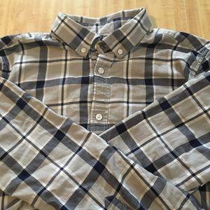 Five Four Plaid Button Down Shirt, Grey & Navy, L